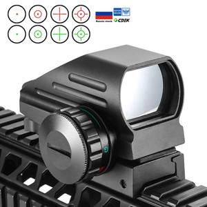 전술 반사 빨간색 녹색 레이저 4 십자선 홀로 그래픽은 도트 사이트 범위 공기총 시력 사냥 11mm / 20mm 레일 마운트 AK 계획된