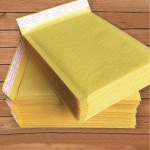 11x13cm Sacs Kraft Papier jaune Mailing bulle enveloppe sac étanche à l'humidité de haute qualité auto Seal expédition Sacs Business Supplies