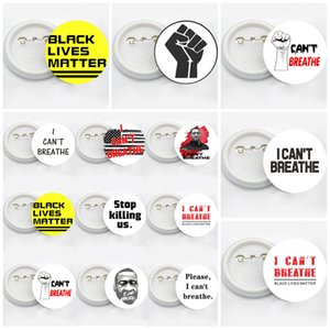 New George Floyd Trump USA Flag Pin Badge Party Favor 14styles I CAN'T BREATHE Brooches Black Lives Matter Parade Brooches T3I5829