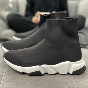 2020 Speed Runner Entraîneur Designer Chaussures Chaussettes Top Quality Low Hight Noir Vert Rouge Oreo Chaussures plates espadrilles avec la boîte sac à poussière