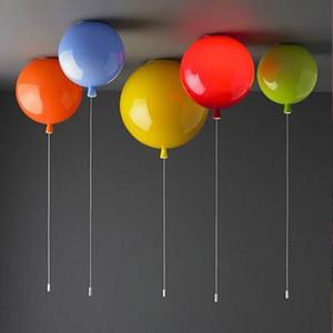 Lámpara de techo con globos de colores Habitación para niños Niños Guardería Luces de techo para niños Decoración de la pared de techo para el hogar interior Lámpara de globo Accesorio