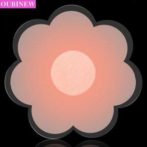 OUBINEW 1 paire auto-adhésif silicone poitrine fraîche réutilisable Couverture Titiller Soutien-gorge Pad Pétales sein Invisible pour Party Dress