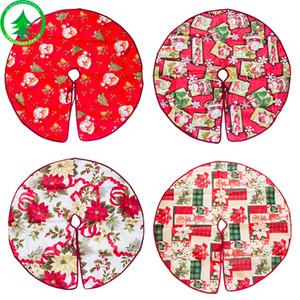 Décorations De Noël Arbre Jupe De Bande Dessinée Impression Décoration Arbres Robe Père Noël Tête Fleurs Motif Jupes Nouvelle Arrivée 12 5xb L1