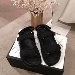 2019 Scarpe con fondo aperto in focaccina casual punta aperta estate per aiutare sandali con plateau spessi scarpe da donna sandali neri