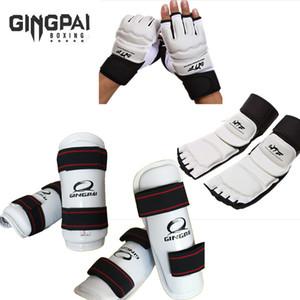 Taekwondo Guanti Karate Sparring Gear Mano Leg Protector Set Parastinchi Scaldino Del Ginocchio Delle Donne Palm Boxe Piede Scarpe Per Bambini Di Età