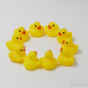 High Quality Baby Bath Duck Toys Sound Mini Yellow Rubber Duck Bathtub Duckling Toys Children Swimming Beach Gift