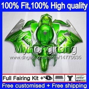 Inyección OEM para Kawasaki ZX 12R ZX1200 1200 cc 2002 2003 2004 2005 2006 224MY.21 de plata verde ZX 12 R ZX12R ZX12R 02 03 04 05 06 carenado