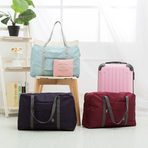 Folding Travel Storage Bag Carry-On Hand Luggage Organizer Tote Large Foldable Shoulder Duffel handbags Men Women bags