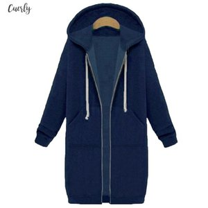 Spring Autumn Coat Women Regular 2020 Fashion Casual Long Zipper Hooded Jacket Hoodie Sweatshirt Vintage Outwear Coat Plus Size