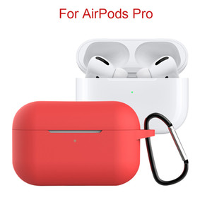 Silicone Case With Hook for AirPods Pro Soft Protective Case For Apple Bluetooth Earphone 3 Wireless Charging Box Free Shipping