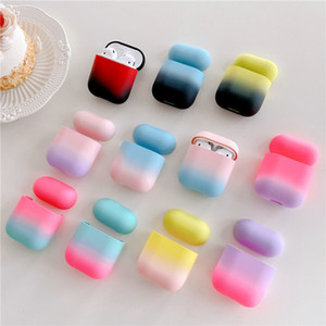 For AirPods 1 2 Air pods Pro 3 Case  Gradient Rainbow Earphone Case hard PC Protective case fundas For Airpods pro 3 capa