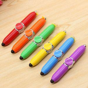 Bolígrafo creativo multifuncional táctil / rotar / luz led juguetes divertidos bolígrafos oficina de negocios descompresión estudiante