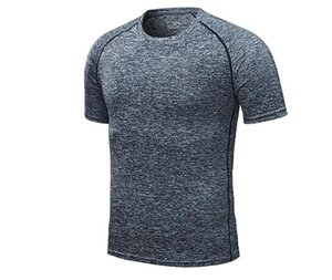 Dry T-Shirts feste kurze Hülsen-Sport-Casual Male Tops Aktiv Pure Color Homme Tees Sommermens Schnell