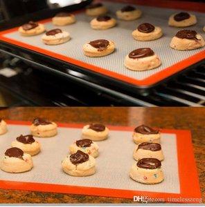 Antihaft-Silikon-Fiberglas-Backmatten 30 * 20cm Ofen Mat Teig Mats Wärmeisolierung Pad Bakeware Kid Table Mat