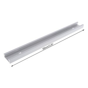 2pcs 0.3m Aluminium Alloy T-track Woodworking T-slot Miter Track Jig Fixture Router Table