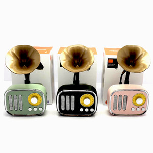 A67Retro Gramophone Music Box Mini Portable Wireless Bluetooth Speaker FM Radio Support FT Cards Long Standby Speakers gift in stock