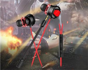 New E-sports double action ring mobile game headset in-ear mobile phone computer universal wired headset eating chicken headset