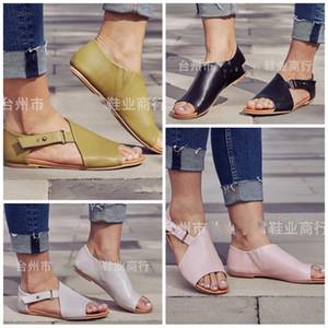 Kadınlar Büyük Kod Balık Ağzı Sandalet Avrupa Ve Amerika Düz Alt Terlik Yaz Açık Havada Kalınlaşma Eğlence Ayakkabı Sıcak Satış 26yjI1