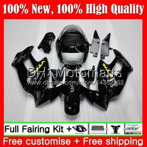 Karosserie für HONDA SuperHawk Glossy schwarz VTR1000F 97 98 99 00 01 64MT4 VTR1000 F VTR 1000 F 1000F 1997 1998 1999 2000 Verkleidung Karosserie