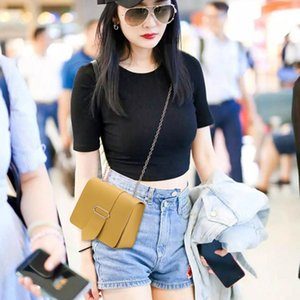 -Coreano estilo das MULHERES de um ombro Cadeia Tongue Praça bolsa de Nova Shoulder cor sólida Mobi sacos bolsa