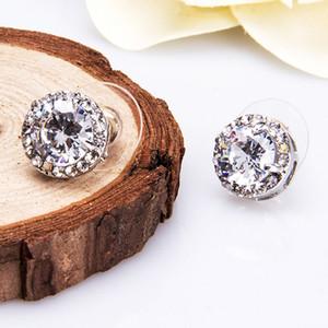 New Arrival Best 18K White Gold Plated EaringsWhite Zircon Earrings fashion Big Diamond Earrings for Women