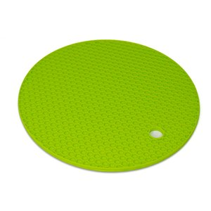 Wholesale Green Silicone Honeycomb Insulation Pad Thermal Insulation and Grip Coffer Coaster Roundness Sheap Mats Table Decoration