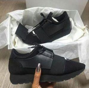 Balenciaga scarpe da ginnastica di corrispondenza modo superiore di design a basso Top delle donne degli uomini di scarpe casual Race Runner mesh traspirante Flats Shoes SIZE 34-47