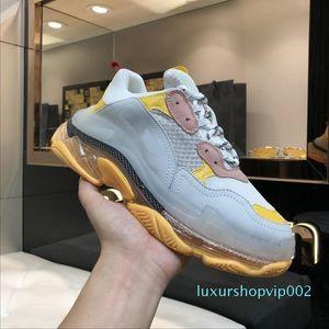 2019 Women fashion Designer Casual Shoe Sneakers Cushion Triple S 3.0 Combination Nitrogen Outsole Crystal Bottom Dad Casual Shoe Snean1 lll