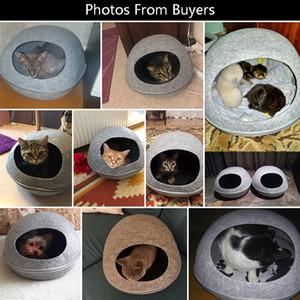 Hoopet Lit Kitten trou rond Maison Banc pour chien Puppy Accueil Nest Pet Supply Cat Panier Kennel Y200330