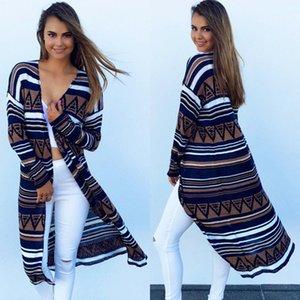 Hot sales pattern print maternity women's long sleeve vintage dress thin coats