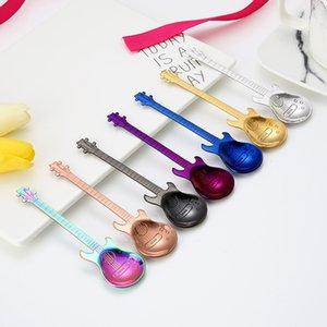 guitar coffee spoon create 304 stainless steel coffee scoop cutlery tea spoon coffee accessories tea spoon LZ1729