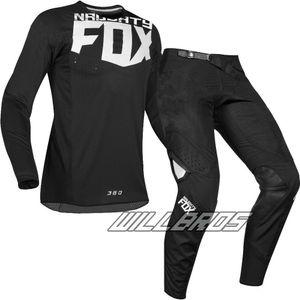 MX 360 Kila Motocross Schwarz Jersey Pant Combo Motorrad Dirt Bike Off Road Racing Gear Set Kit