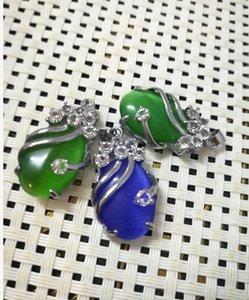 ovale verde smeraldo naturale con ciondolo di diamanti per la consegna gratuita A1