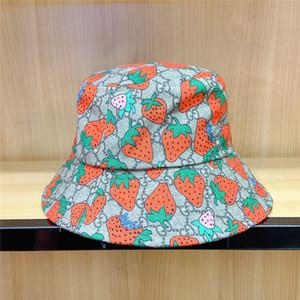 Carino Strawberry stampata delle donne cappelli di personalità di modo fascino Lady Fishman Cappelli regalo di compleanno per Girlfriends Hat