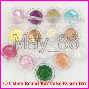 Round Box 13 models wholesale false eyelash packaging Round box fake 3d mink eyelashes boxes faux cils magnetic case lashes empty box