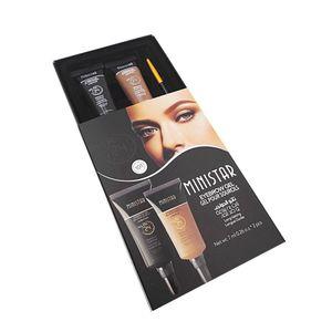 전문 메이크업 눈썹 크림 2 색 / 방수 눈썹 젤 검은 색 갈색 눈썹 문신 증강으로 브러쉬 키트 RRA2378 설정