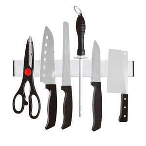 Magnetic Self-adhesive 31cm Lunghezza Knife Holder Acciaio inossidabile 304 Block Magnet Knife Holder Rack Stand per coltelli