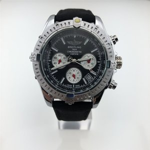 1884 Top Brand Хронограф обработки стали Корпус часов Мужские Роскошные часы Мода складной пряжки Человек вскользь кварцевые наручные часы