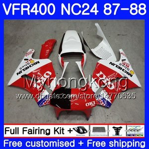 Corpo para HONDA RVF400R VFR400 R NC24 V4 RVFR400RR VFR400R 87 88 267HM.3 RVF VFR 400 R VFR400RR Não corrida! VFR 400R 1987 1988 Kit de Carenagem