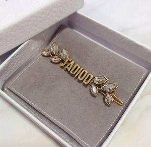 Meilleures vente lettre de diamant vintage clips cheveux concepteur design de luxe femmes bijoux Clips cheveux