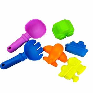 6 Adet Plaj Kum Oyuncak Aracı Set Modelleri Sandbeach Araçları Çocuklar Açık Oyun Oyuncak Maça Kürek Tırmık Su Oyuncakları A889 toptan