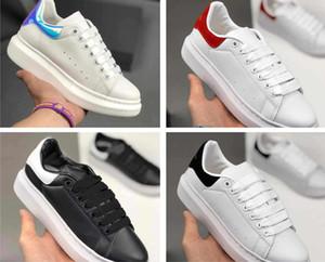 McQueen Shoes Da scarpe formateurs Uomo chaîne plate-forme de réaction scarpe MQ chaussures unisexe haut chaussures de qualité en cuir rouge