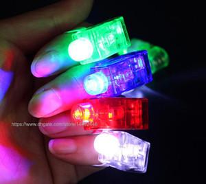 500pcs СИД Finger Light Up Lamp Ring Glow Party Night Club Ослепительная Балки Лазерные Мигание перстни игрушки подарка