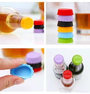 Silicone drinkware lid Silicone Bottle Caps Tops Wine Beer Caps Saver Beer Bottle Lids Silica Gel Reusable Stopper cover Caps DHL Free
