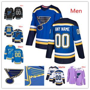 Hommes personnalisés Femmes Jeunes Jeunes enfants St. Louis Blues 2019 Blue Troisième Jersey Toute nom Nom Blanc Tarasenko Ryan O'Reilly Perron Bozak del Zotto