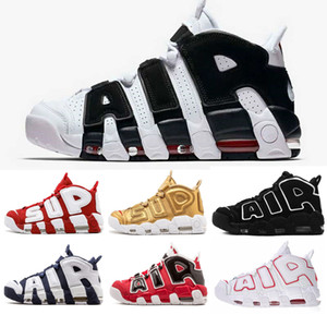 2019 New 96 QS Olímpico Varsity Maroon mais Shoes Mens Basketball 3M Scottie Pippen ar Uptempo Chicago treinadores desportivos Sneakers Tamanho 36-46