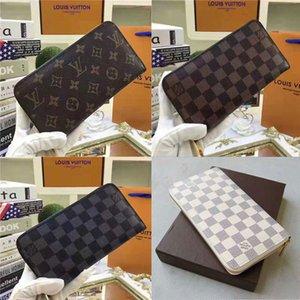 Yeni moda fermuar tasarımcı cüzdan kartları ve paralar ünlü erkek deri çanta kart sahibinin bozuk para cüzdanı kadın cüzdan cüzdan