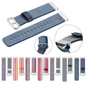 cinturino in nylon tessuto cinghia cinghia di polso 20mm per Ticwatch 2 / Ticwatch E / Misfit vapore braccialetto vigilanza orologio orologio relogio