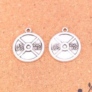31pcs Charms halter disk ağırlığı DIY El Yapımı Tibet Gümüş Takıları 24 * 28mm Yapımı 20.4kg Antik Gümüş Kaplama Kolye 45lbs