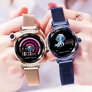 New H2 intelligente Armband kontinuierliche Herzfrequenzerkennung IP67 wasserdichte weibliche physiologische Erinnerung Smart-Armbänder DHL frei